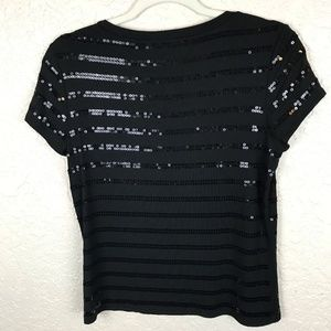 Ann Taylor Tops - Ann Taylor Petite black top with sequins